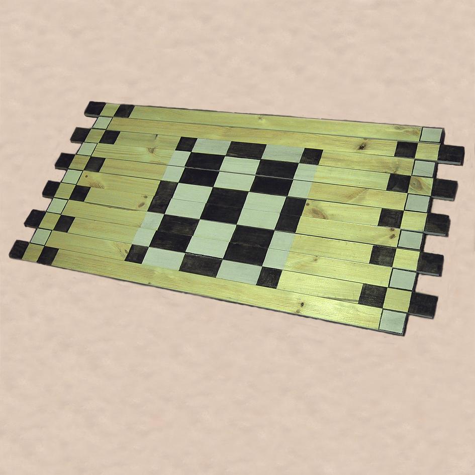 Mata drewniana szachownica