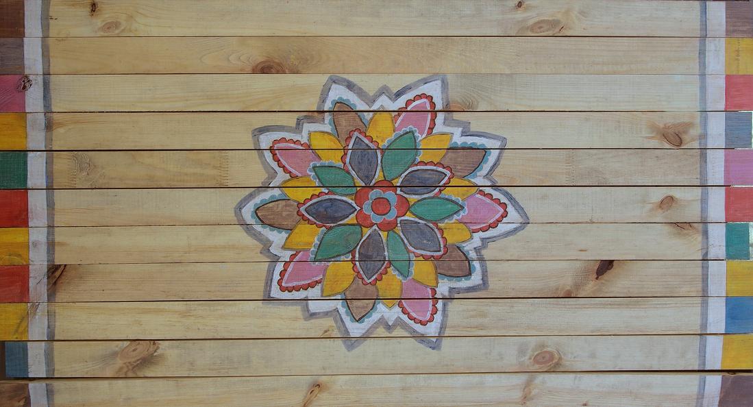 """Eko – mata drewniana """"Słońce"""" – 270 zł"""