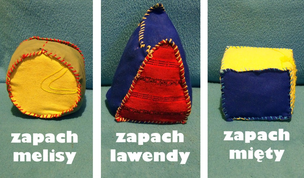 rzutki - kształty geometryczne, sensorki zapachowe - zapachy
