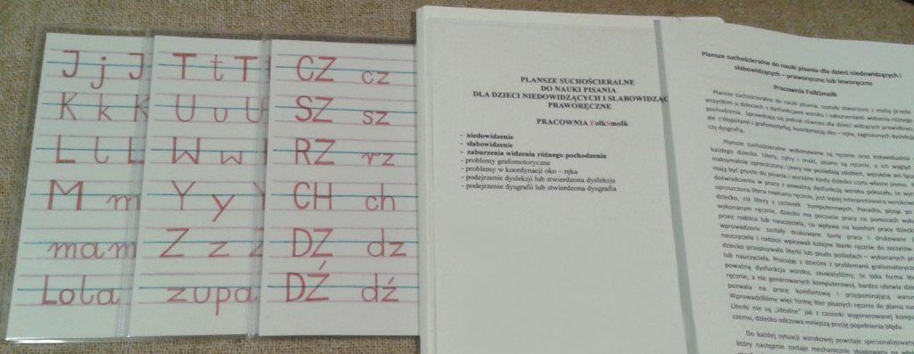 Plansze suchościeralne wielokrotnego użytku do nauki pisania FolkSmolk