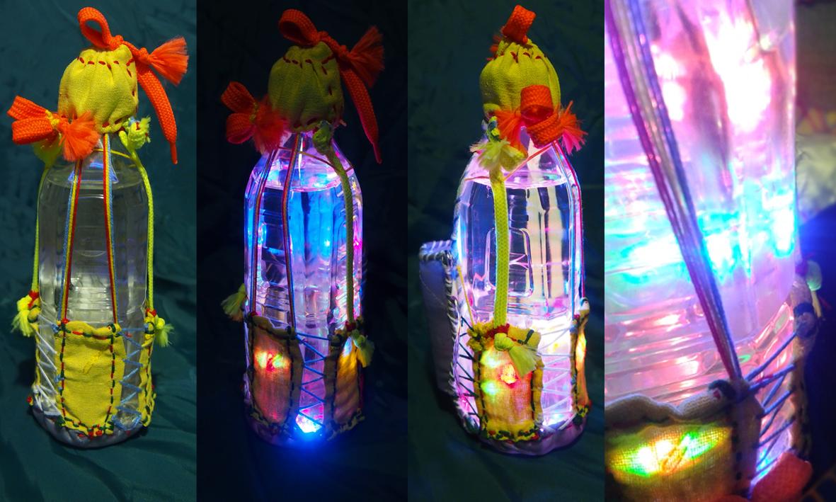 Świetlna butelka – zabawka świecąca, lampion – 38 zł