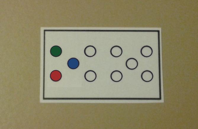 Liczman dla dziecka niedowidzącego lub słabowidzącego kolorowy 2 FolkSmolk