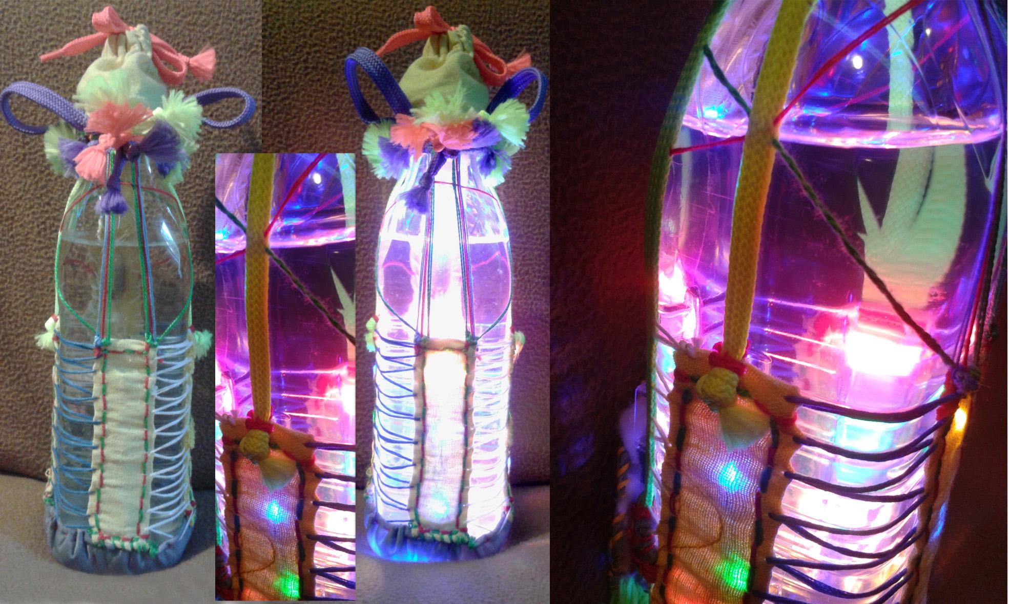 Świetlna butelka duża – zabawka świecąca, lampion duży – 48 zł
